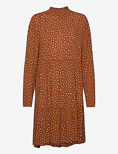 KAbillie Amber Dress - midiklänningar - sierra/chalk dot