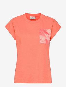 KAblanca T-shirt SS - t-shirts - fusion coral