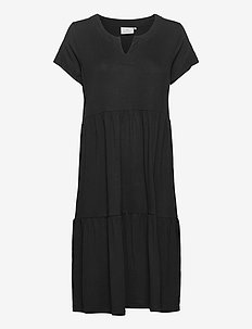 KApetra Jersey Dress - midi dresses - black deep