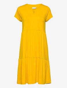 KApetra Jersey Dress - do kolan & midi sukienki - golden rod