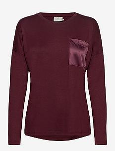 KAruth LS T-shirt - långärmade toppar - woodsmoke