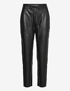 KAvilla Pants 7/8 - lederhosen - black deep