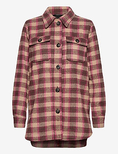 KAsahel Jacket - overshirts - port royal/ woodsmoke check