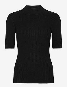 KAnaina Astrid Pullover - stickade toppar & t-shirts - black deep
