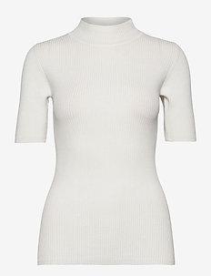 KAnaina Astrid Pullover - gebreide t-shirts - chalk