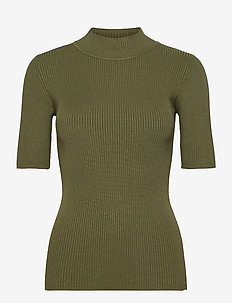 KAnaina Astrid Pullover - knitted tops & t-shirts - olivine