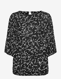 KAsama Amber Blouse - langermede bluser - black/chalk print