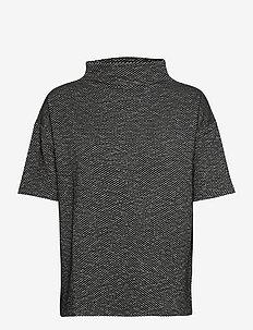 KAtippie Blouse - kortärmade blusar - black / chalk mini check