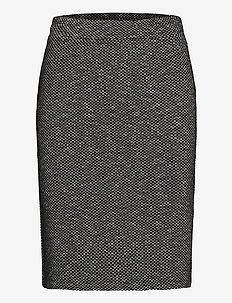 KAtippie Skirt - spódnice do kolan i midi - black / chalk mini check