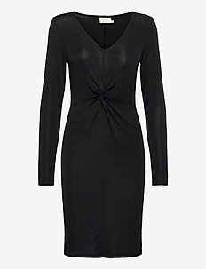 KAjamal Dress - midi kjoler - black w. black lurex