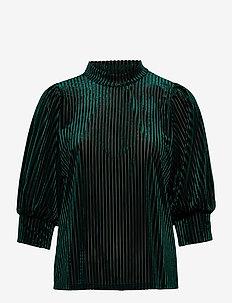 KAdina Velvet Blouse - langermede bluser - dark green