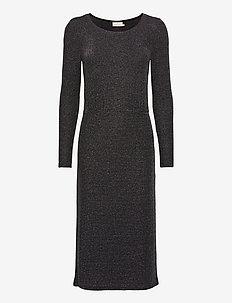 KAjoy Dress - strikkede kjoler - black silver lurex