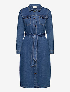 KAkeisha Denim Dress - blousejurken - denim blue