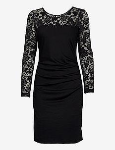 KAdolia India Dress - midi kjoler - black deep