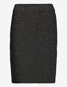 KAlexi Lurex Skirt - kort skjørt - black silver lurex
