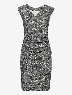 KApai India Dress - sommerkjoler - chalk / black paisley