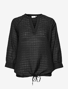 KAfie Blouse - blouses met lange mouwen - black deep