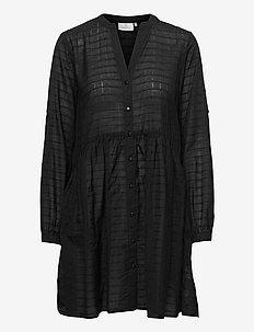 KAfie Shirt Tunic - alledaagse jurken - black deep