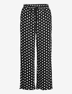 KAbarbara Culotte Pants - casual bukser - black / broken white dot