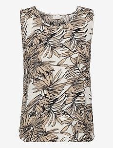 KAlifa Amber Top - Ærmeløse bluser - classic sand leaf print