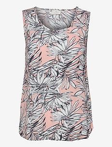 KAlifa Amber Top - Ærmeløse bluser - misty rose leaf print
