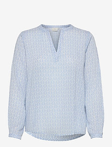 KAfana Tilly Blouse - langærmede bluser - blue/chalk fan print