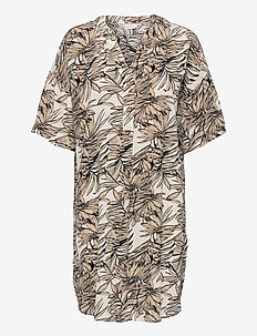 KAlifa Amber Tunic - tunikaer - classic sand leaf print