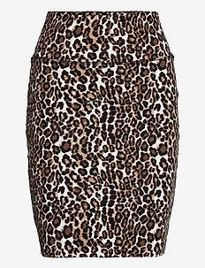 KAjes Penny Skirt - midinederdele - classic sand / black leopard