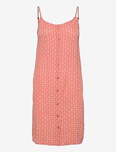KAlera Amber Dress - sommerkjoler - coral / chalk small graphic
