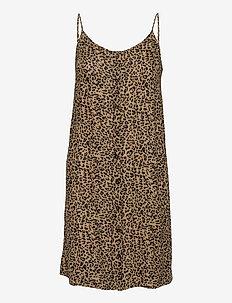 KAlera Amber Dress - sommerkjoler - brown / black leo print
