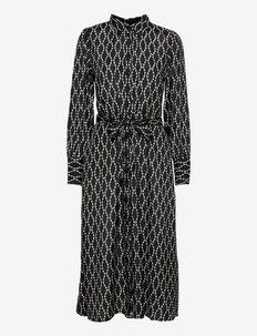 KAolan Shirt Dress - sommerkjoler - black / sand chain print