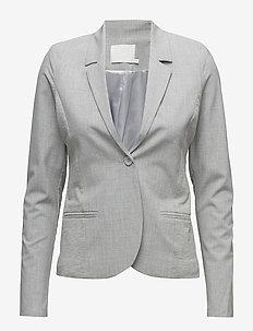 Jillian Blazer - matchende sæt - light grey melange