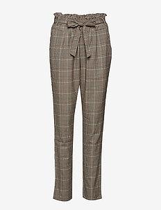 Caroline Pants - slim fit spodnie - after dark brown
