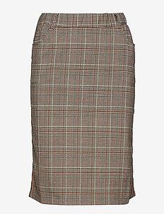Caroline Tape Skirt - midinederdele - after dark brown