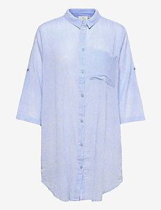 KAvivian Shirt Dress 3/4 Sleeve - langærmede bluser - chambray blue