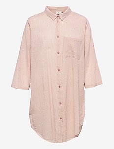 KAvivian Shirt Dress 3/4 Sleeve - langærmede bluser - misty rose