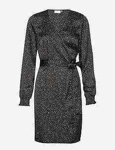 KAdotise Wrap Dress - wrap dresses - black deep