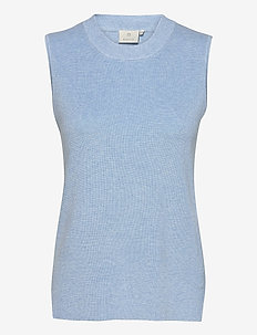 KAmiara Knit Vest - strikveste - chambray blue melange