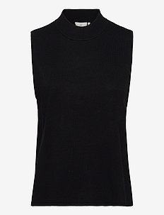 KAkira Astrid Knit Vest - gebreide vesten - black deep