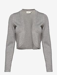 Astrid Bolero - crop tops - grey melange