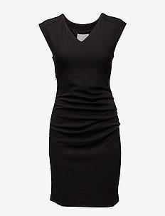 India V-Neck Dress - BLACK DEEP