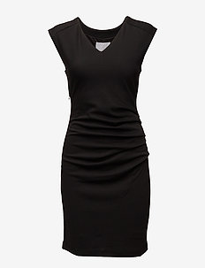 India V-Neck Dress - hverdagskjoler - black deep