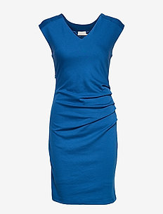 India V-Neck Dress - CLASSIC BLUE