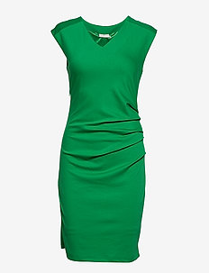 India V-Neck Dress - FERN GREEN