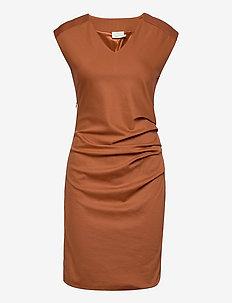 India V-Neck Dress - hverdagskjoler - sierra