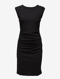 India Round-Neck Dress - BLACK DEEP