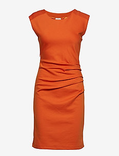 India Round-Neck Dress - BURNT ORANGE