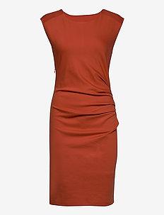 India Round-Neck Dress - midi kjoler - chili