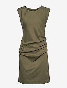 India Round-Neck Dress - GRAPE LEAF