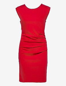 India Round-Neck Dress - midi kjoler - haute red